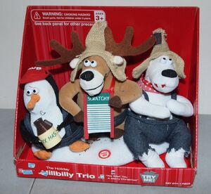 Rare!! Vtg 2008 GEMMY ''Hillbilly Trio'' CHRISTMAS ANIMATED SCENE