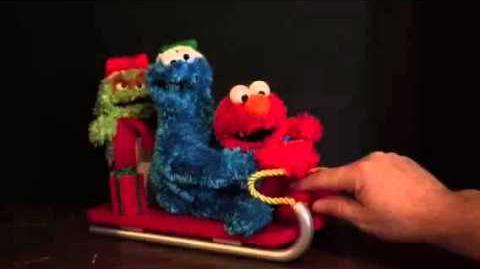 Gemmy 2006 Sesame Street Elmo Cookie Monster Oscar Grouch Sled Christmas