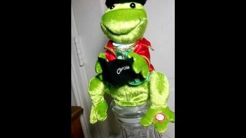 Gemmy Animated Singing Dancing Plush Christmas Frog Carols Deck the Halls