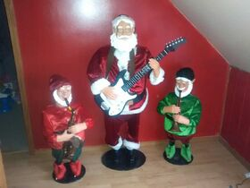 RARE Gemmy Kris and the Kringle Jingle Three-Piece Band