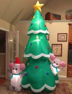 Gemmy Prototype Mice with Christmas Tree Inflatable Airblown