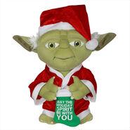 Christmas Greeter-Yoda w stocking