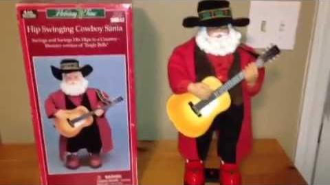 Gemmy Hip Swinging Cowboy Santa (RARE)