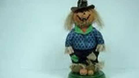 Gemmy animated mooning pumpkin scarecrow-0