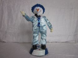 Christmas Disco Snowman Animated & Musical Gemmy 15.5'' JINGLE BELLS & FUNKY TOWN