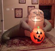 Gemmy Prototype Halloween Star Wars Jabba the Hutt Inflatable Airblown
