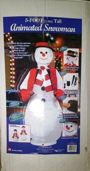 Gemmy 5' Life Size Animated Singing Dancing Christmas Snowman - Animated Karaoke 5