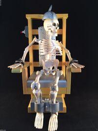 RARE Shock Me Sherlock Joltin Jack Animated Gemmy Electric Chair Skeleton 3