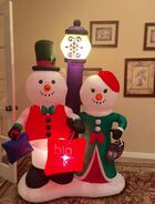 Gemmy Prototype Christmas Snowmen Shopping Inflatable Airblown