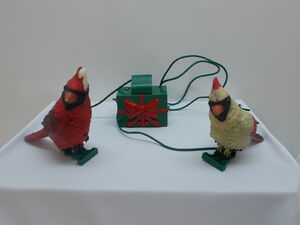 Gemmy interactive animated holiday singing cardinals