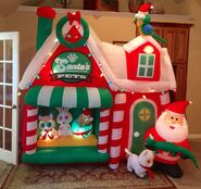 Gemmy Prototype Christmas Santa's Pets Inflatable Airblown