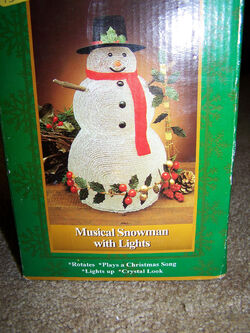 North Pole Productions Musical Snowman with Lights