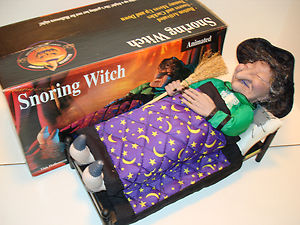 Gemmy animated snoring witch