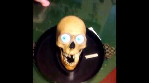 Vintage Very Rare Gemmy Talking & Singing Animated Skull Head Serving Tray