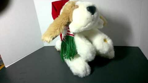 GEMMY ANIMATED Hound Dog toy Sings Dances to Deck the Halls & O Christmas Tree