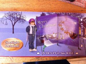 2005 Gemmy Merry Christmas Yard Card With Spotlight