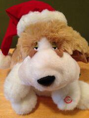 Gemmy Animated Singing Dog Christmas Plush Basset Hound ADORABLE