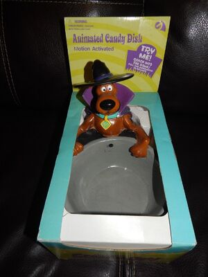SCOOBY DOO Animated Candy Dish NEW Gemmy Halloween