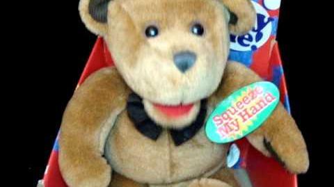 Gemmy WANNABE BEAR Animated Elvis Singing Dancing TEDDY BEAR Plush MIB