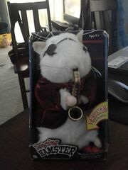 DANCING HAMSTER SPOOKY GEMMY NEW IN BOX GHOSTBUSTERS THEME WORKING!