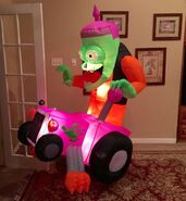 Gemmy Prototype Monster on Hot Rod Inflatable Airblown
