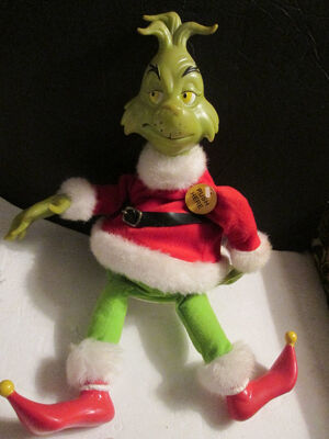RARE How The Grinch Stole Christmas, Animated, Singing and Dancing, Gemmy RARE