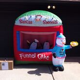 Gemmy Inflatable Sample Prototype Santa's Sweets Funnel Cake Stand