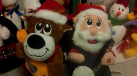 Gemmy dueling banjos Santa and reindeer