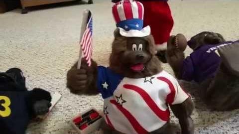 Gemmy singing dancing American bear