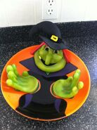Halloween animated witch candy bowl