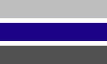 Graygender pride flag