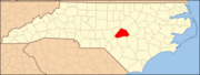 North Carolina Map Highlighting Harnett County.PNG