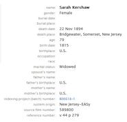 Kershaw-Sarah 1894 death