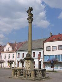 Kostelec nad Orlicí - Marian Plaque Column
