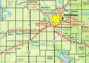 Map of Reno Co, Ks, USA