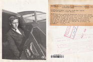 Eddie August Schneider on August 5, 1930 in Westfield, New Jersey before heading to Los Angeles, California (600 dpi, 90 quality, front and back)