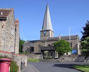 Almondsbury church exterior arp