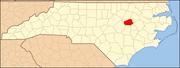 North Carolina Map Highlighting Wilson County.PNG