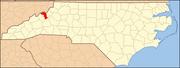North Carolina Map Highlighting Mitchell County.PNG