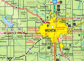 Map of Sedgwick Co, Ks, USA