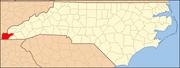 North Carolina Map Highlighting Cherokee County.PNG