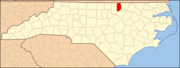 North Carolina Map Highlighting Vance County.PNG
