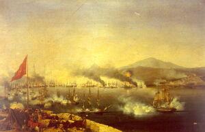 Naval Battle of Navarino by Carneray