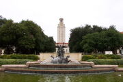 The University of Texas at Austin - Littlefield Fountain and Main Building