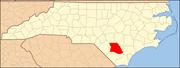 North Carolina Map Highlighting Bladen County.PNG