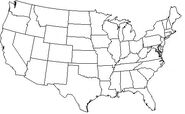 US STATE MAP OUTLINE