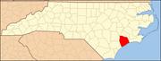 North Carolina Map Highlighting Onslow County.PNG