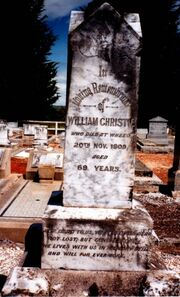 William Christie (1841-1909) tombstone