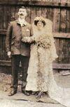 James Edward Baglin (c1874-1955) and Maud Elizabeth Baldwin (1885-1948) marriage 1906