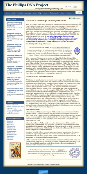 Phillips DNA Project Website